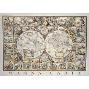 Mapa Antyczna Świat Magna Carta 500 Elementów - Educa