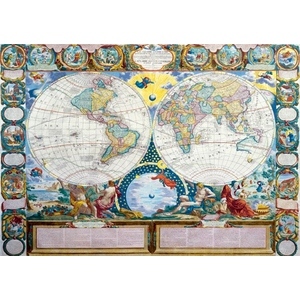 Mapa Ziemi 1749 J. B. Nolin 3000 Elementów - Trefl