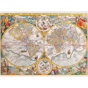 Historyczna Mapa Świata 1500 Elementów - Ravensburger