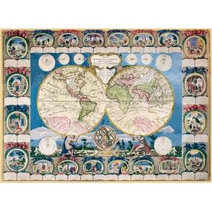 Stara Mapa Świata 1500 Elementów - Clementoni