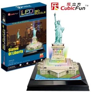 Puzzle 3D Podświetlana Statua Wolności - Cubic Fun