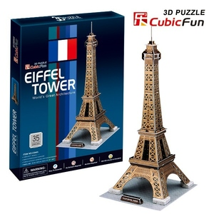 Puzzle 3D Wieża Eiffel'a - Cubic Fun