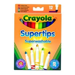 Flamastry Supertips Pastelowe 12 Sztuk - Crayola