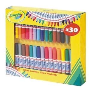 Zestaw Flamastrów Maxi 30 Sztuk - Crayola