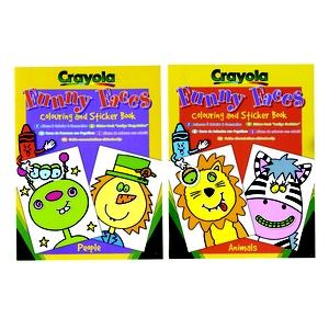 Zestaw Z Naklejkami Funny Faces - Crayola