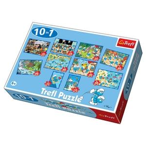 Puzzle 10 W 1 Mix Smerfy - Trefl