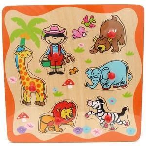 Drewniane Puzzle Zoo - Brimarex