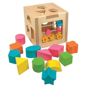 Pudełko Sorter Klocków Z Liczydłem - Woodyland