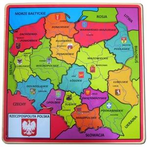 Drewniana Mapa Polski - Brimarex