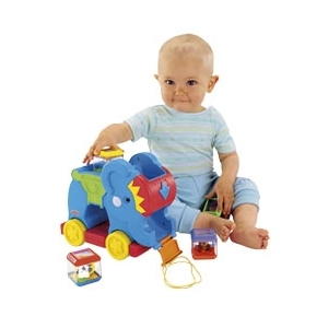 Słonik Z Klockami - Fisher Price