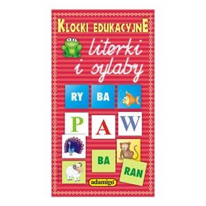 Klocki Edukacyjne Literki I Sylaby - Adamigo