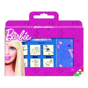Pieczątki Dla Dzieci Barbie Walizka 7szt. - Mutiprint