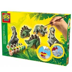 Dinozaury: Zestaw do odlewów gipsowych - Ses