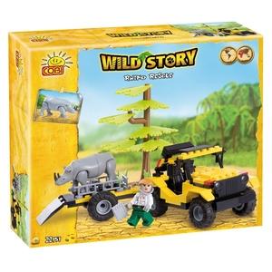 Wild Story Ratowanie Nosorożca 150 Kl. - Cobi