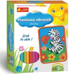 Piaskowe Obrazki Zebra - Ranok