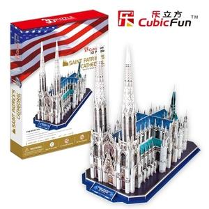 Puzzle 3D Katedra Św. Patryka - Cubic Fun