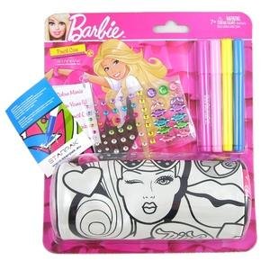 Piórnik Tuba Barbie Do Malowania - Starpak