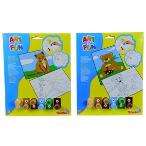 Art&Fun Malowanie Po Numerkach Miś Kot - Simba