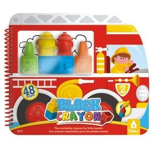Block Crayon Zestaw Strażak Książeczka - Wooky
