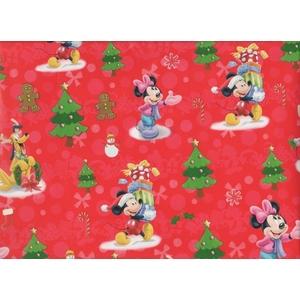 Papier Na Prezent - Święta Z Myszkami Miki I Minnie
