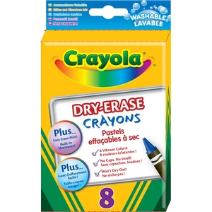 Kredki Świecowe Ścieralne 8 Sztuk - Crayola