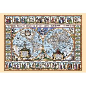Mapa Świata Z 1639 R. 1000 El. - Castor