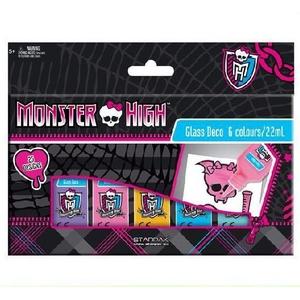 Monster High Farby Witrażowe 6 Kol. - Starpak