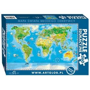 Mapa Świata Młodego Odkrywcy 260 El. - ARTGLOB
