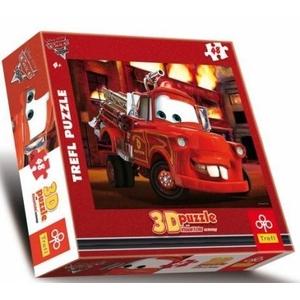 Puzzle 3D Auta Płonący Budynek