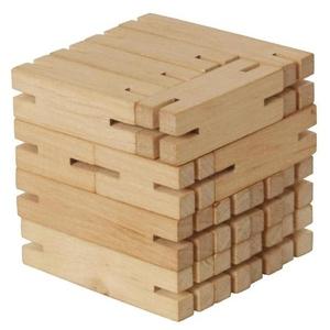 Drewniana Łamigłówka IQ - Kostka