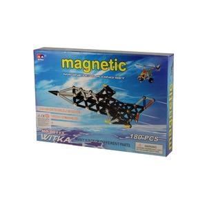 Klocki magnetyczne 180 elementów - Witka