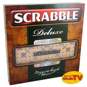 Gra Scrabble Deluxe Prestiżowe - Mattel