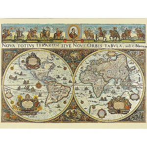 Wielka Mapa Świata 1665 3000 Elementów - Ravensburger