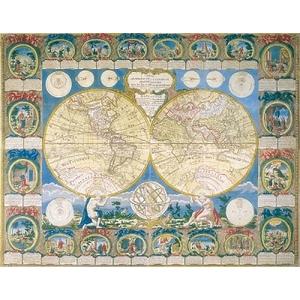 Historyczna Mapa Świata 2000 Elementów - Ravensburger