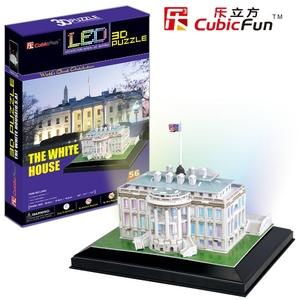 Puzzle 3D Podświetlany Biały Dom - Cubic Fun