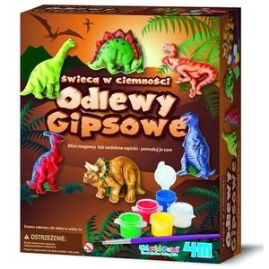 Odlewy Gipsowe Dinozaury (Świecą W Ciemności) - 4M