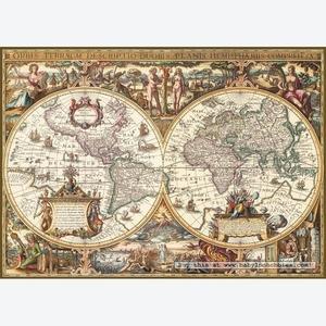 Antyczna Mapa Świata 1000 Elementów - Ravensburger