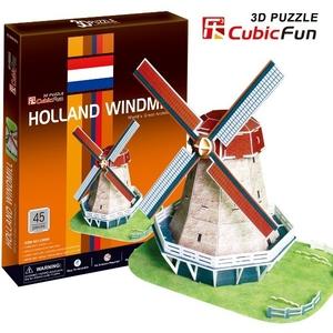 Puzzle 3D Holenderski Wiatrak - Cubic Fun