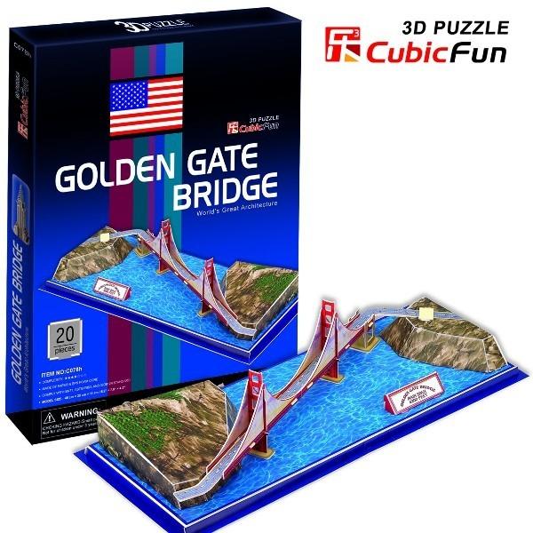 Puzzle 3d Golden Gate Bridge Cubic Fun Zabawki