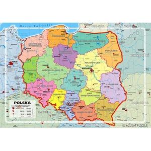 Polska Mapa Administracyjna Puzzle - Maxim