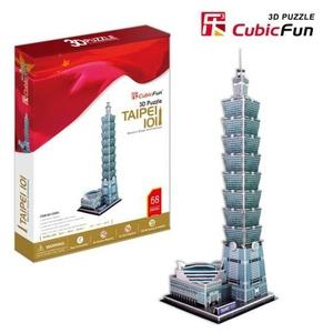 Puzzle 3D Taipei 101 - Cubic Fun