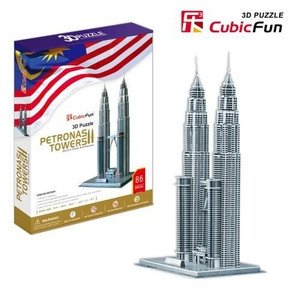 Puzzle 3D Petronas Towers - Cubic Fun