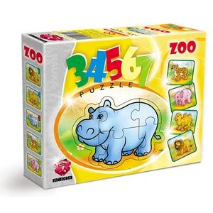 Puzzle 3, 4, 5, 6, 7 Elementów Zoo - Maxim
