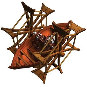 Smily Leonardo Da Vinci Statek Kołowiosłowy Do Samodzielnego Złożenia - Anek