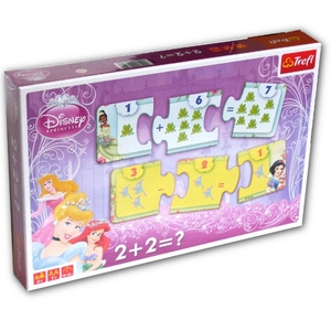 Gra 2+2=? Disney Princess Nauka Liczenia - Trefl