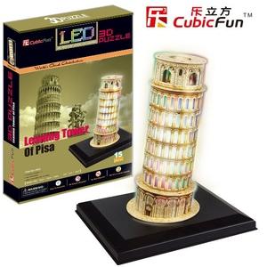 Puzzle 3D Krzywa Wieża w Pizie z oświetleniem
